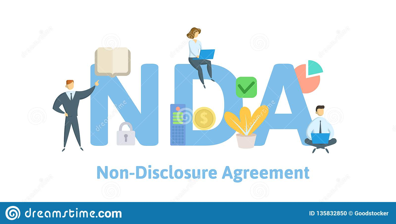 Nda Non Disclosure Agreement Concept With Keywords
