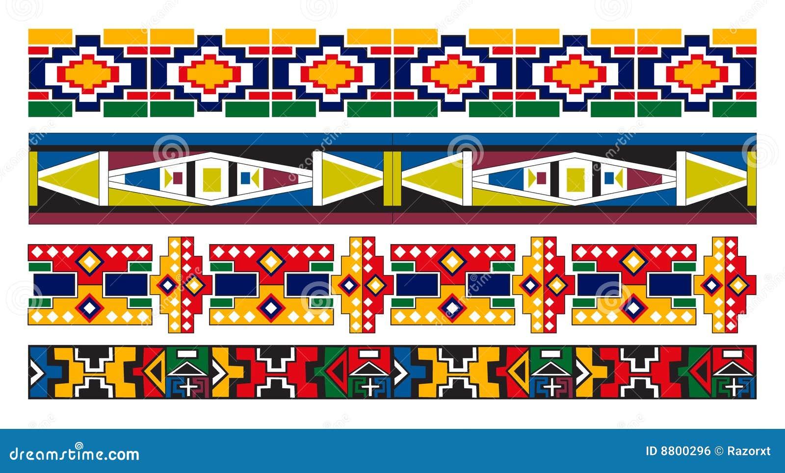 Ndebele afrikanische Rand-Muster-Kunst