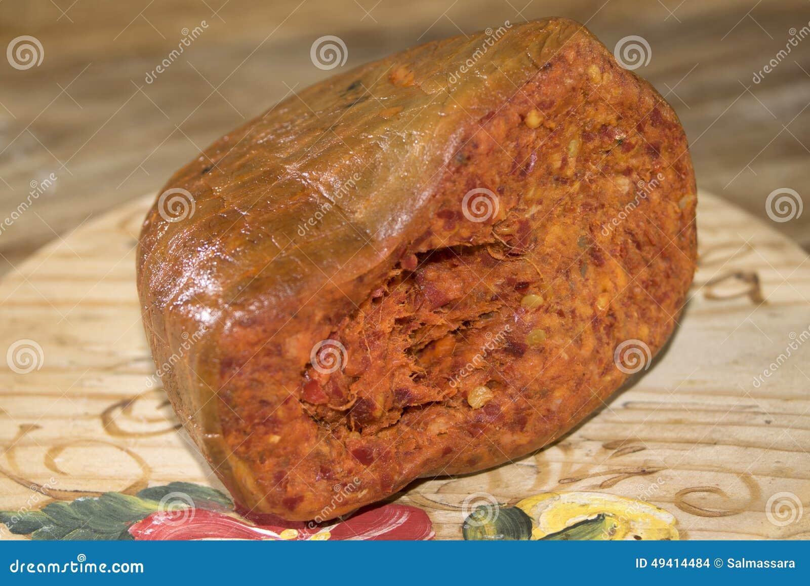 Download Nduja stockfoto. Bild von ungekocht, geschnitten, köstlich - 49414484