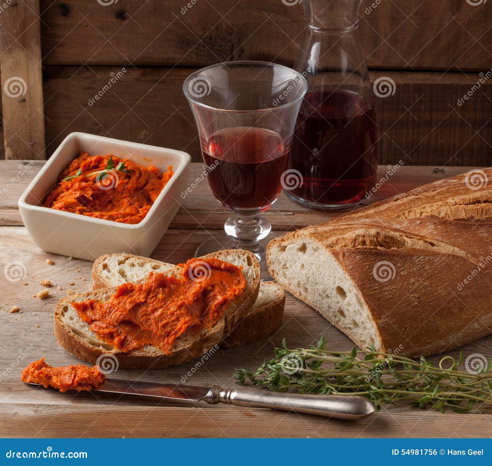 Nduja eller för sobrasada medelhavs- köttspridning