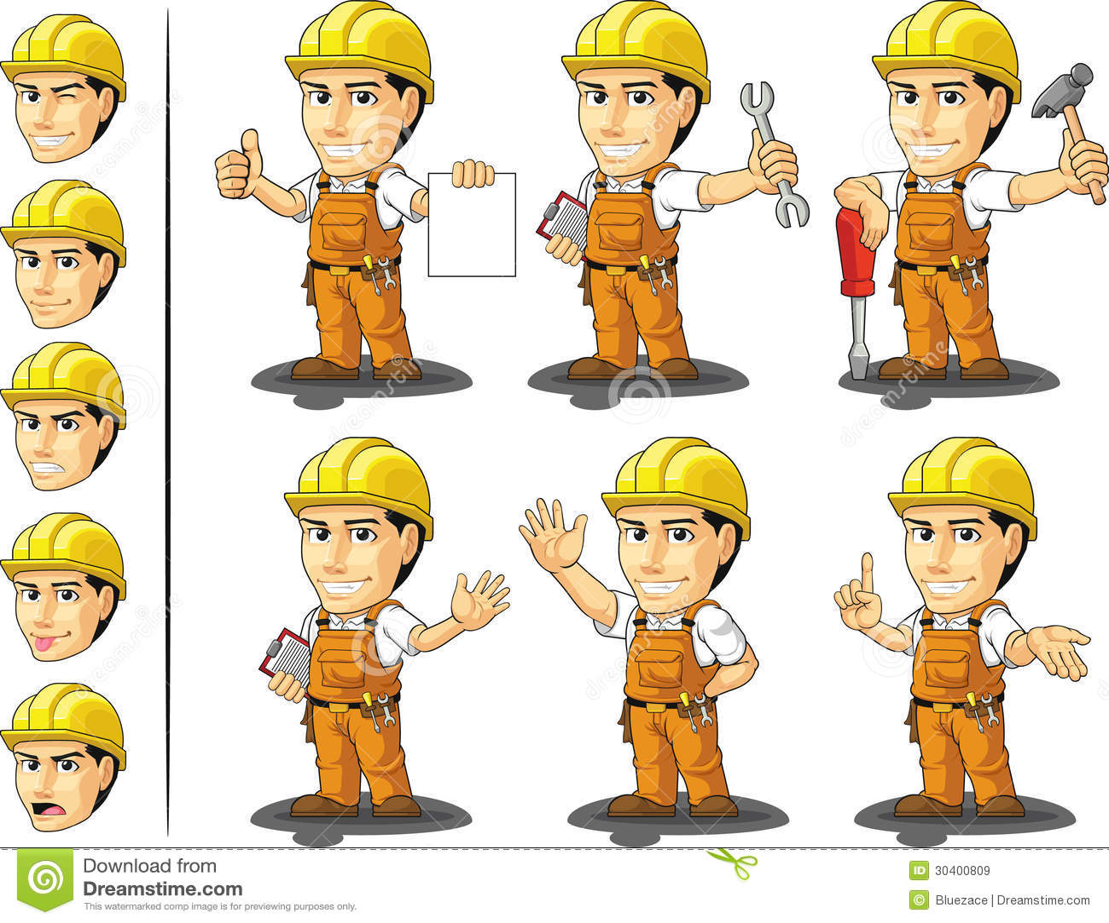 Bauarbeiter clipart schwarz weiß  Karikatur Bauarbeiter Stock Illustrationen, Vektors, & Klipart ...