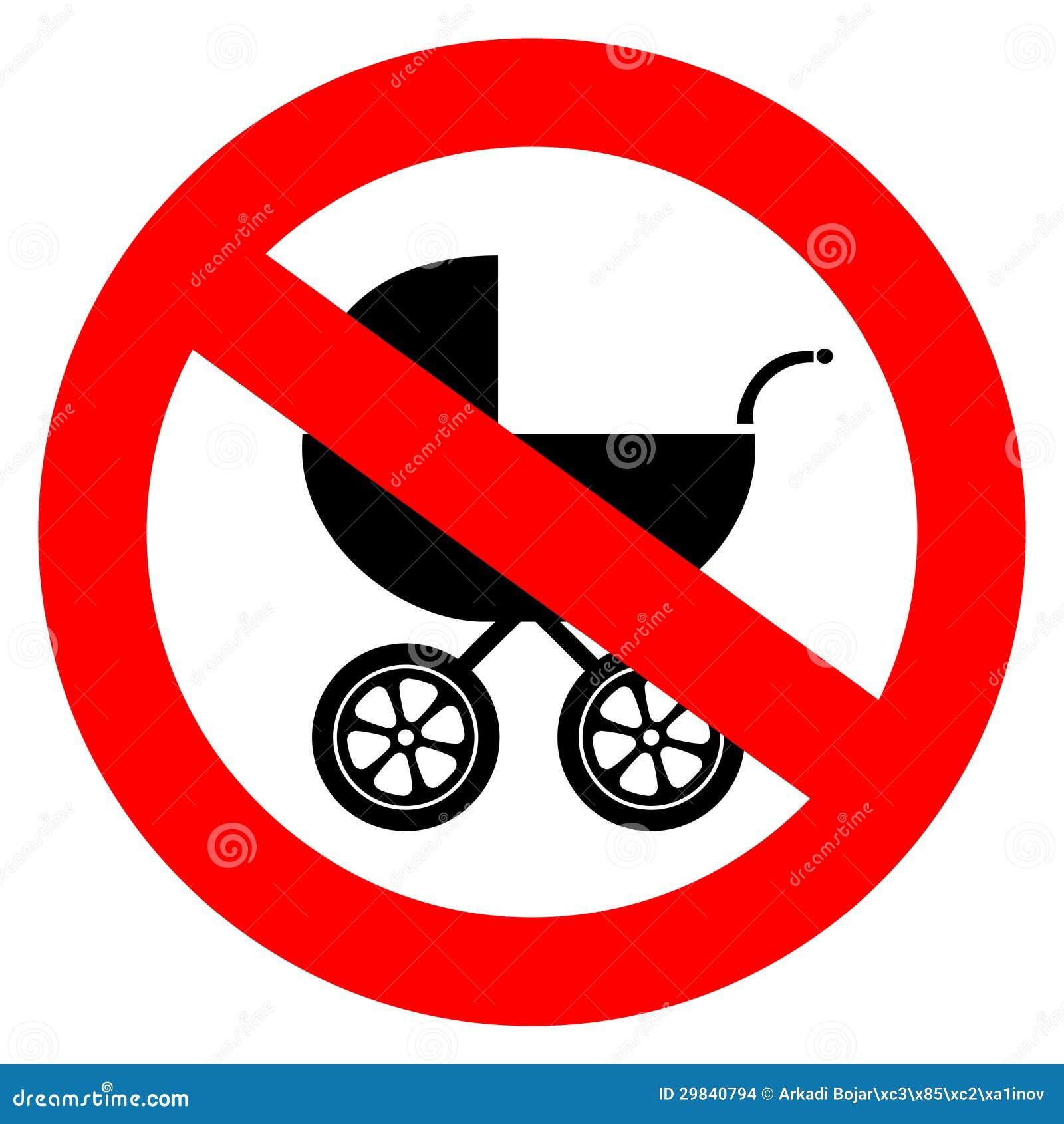 ne dirigez aucun signe de voiture d 39 enfant illustration de vecteur illustration du chariot. Black Bedroom Furniture Sets. Home Design Ideas