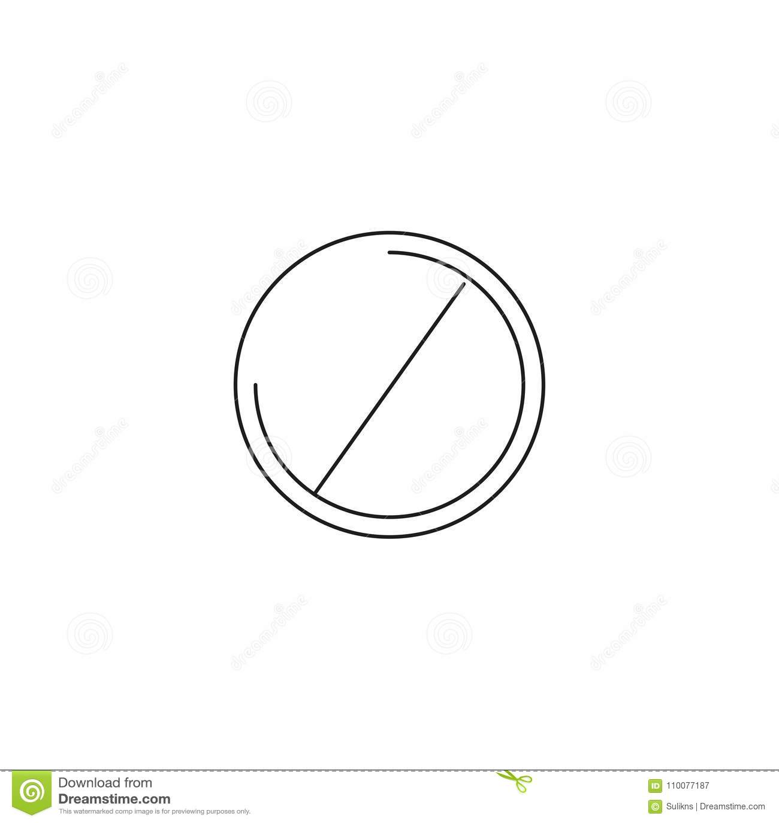 Ne font pas l icône d entrée ; signe d interdiction ; interdit non laissé ; graphiques ; un modèle linéaire sur un fond blanc ; E