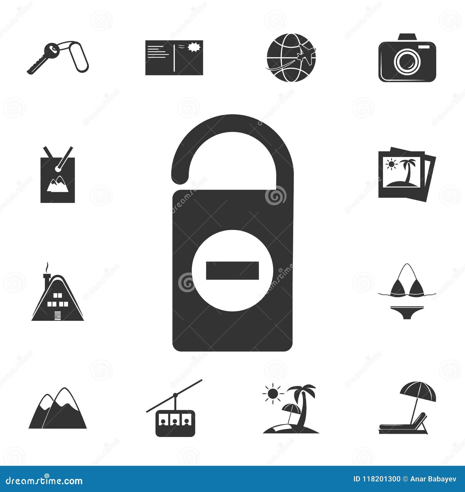 Ne touchez pas à l icône de signe Ensemble détaillé d icônes de voyage Conception graphique de la meilleure qualité Une des icône