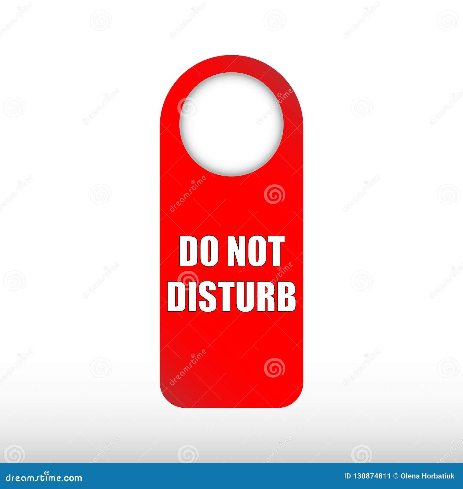 Ne touchez pas au signe - messages d avertissement rouges de porte d hôtel d isolement sur le fond blanc