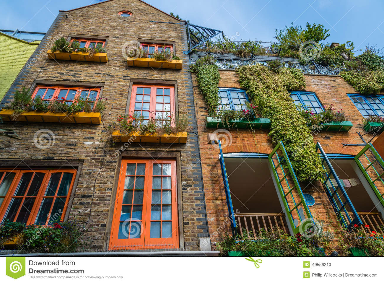 Colourful Neal\'s Yard Near Covent Garden In London Editorial Stock ...