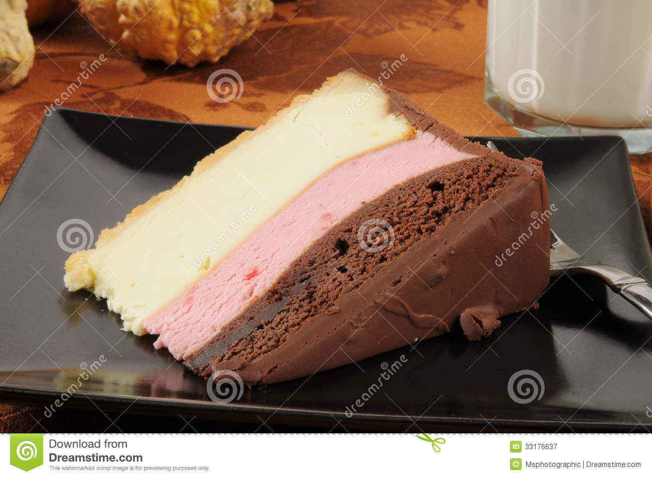 Neapolitan Cheese Cake Royalty Free Stock Photography