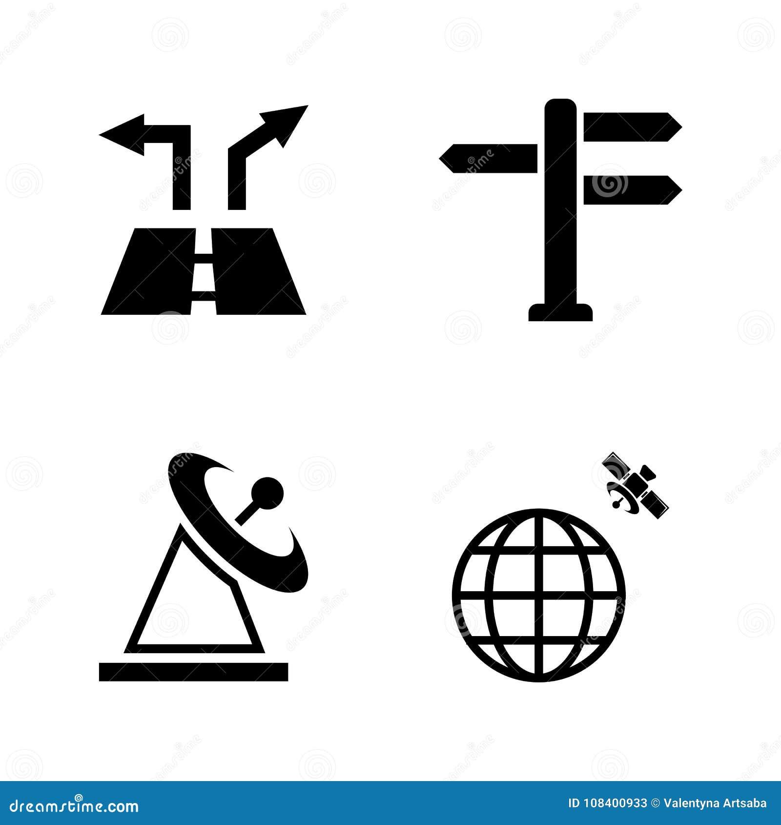 Nearsighted Iconos relacionados simples del vector