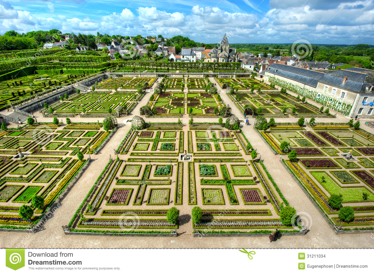 Neat Garden At A French Chateau Stock Photo Image Of Design