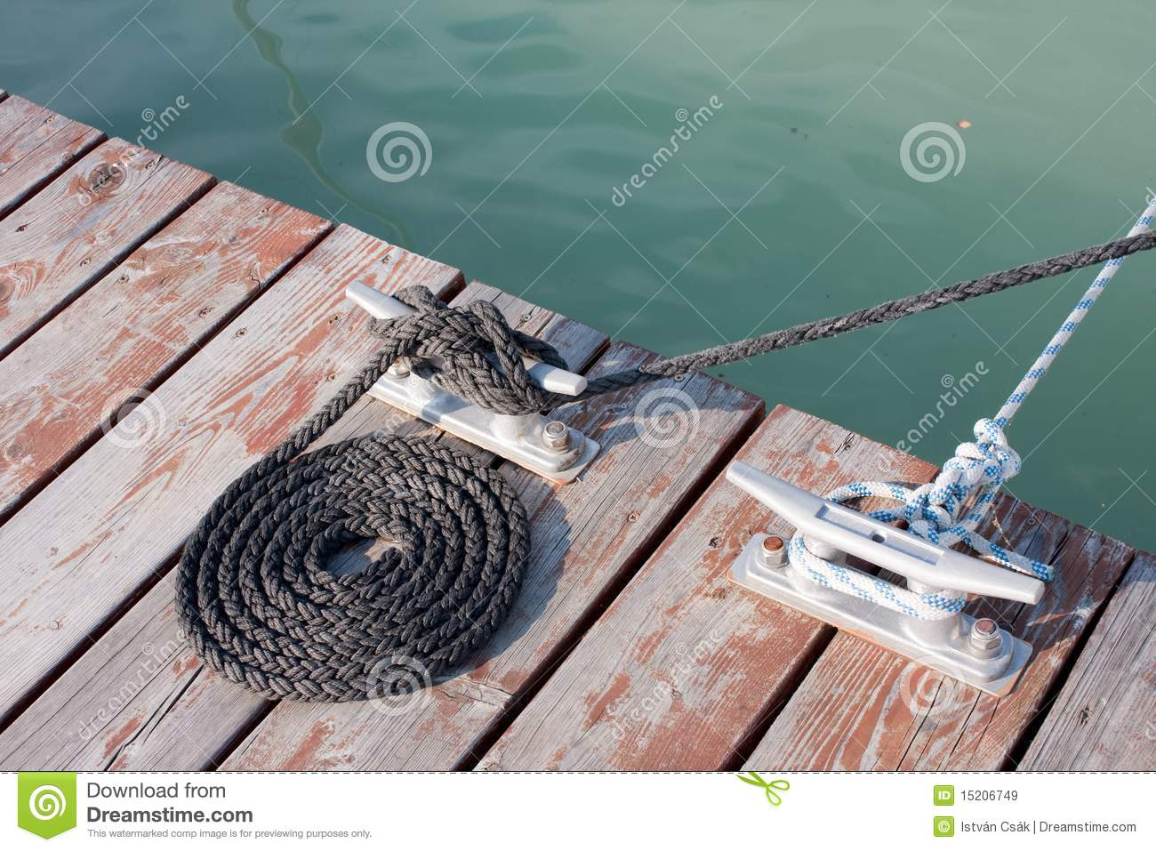 Neatly coiled rope