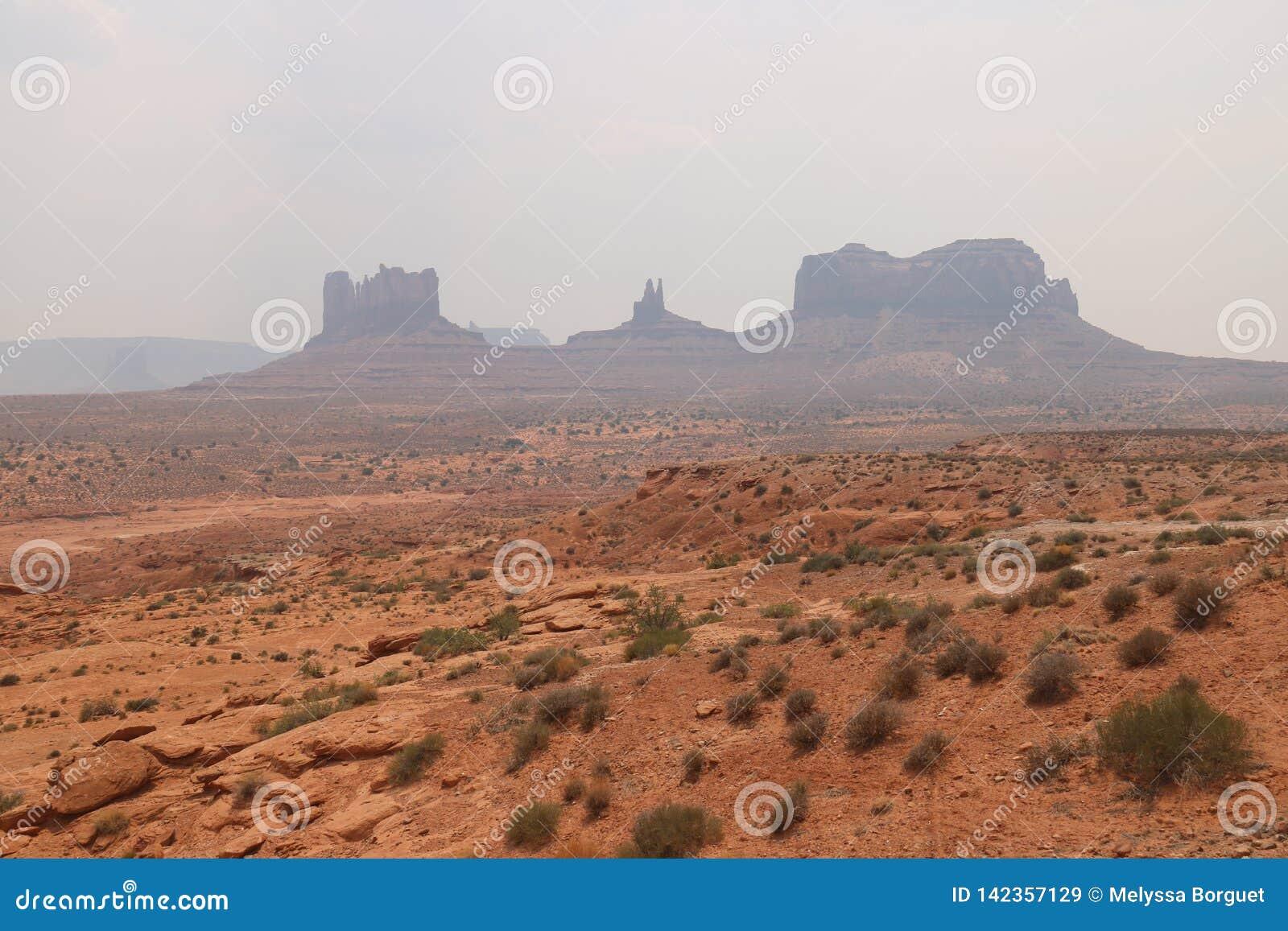 Nebel-Landschaft in Arizona, Monument-Tal Bunt, Tourismus