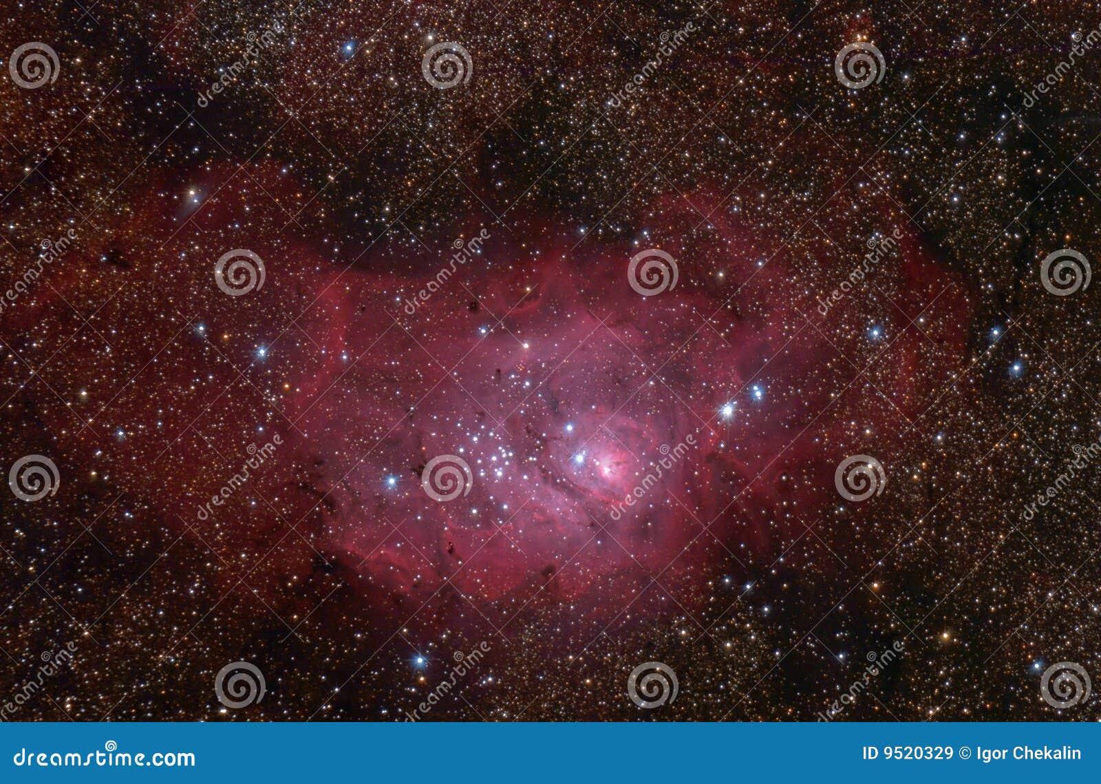 Nebelfleck der Lagune (M8) in der Schützekonstellation.