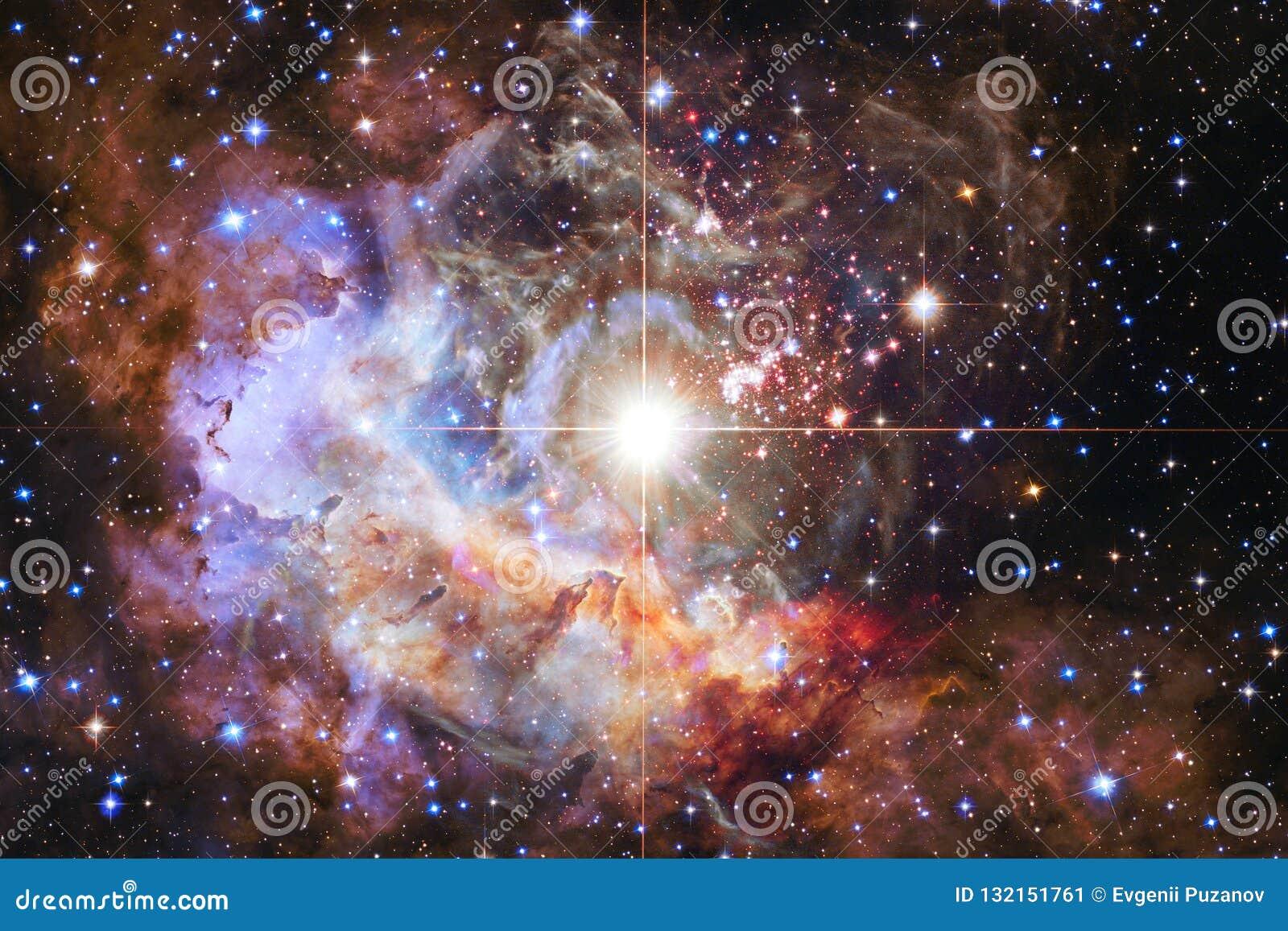 Nebelflecke und viele Sterne im Weltraum Elemente dieses Bildes geliefert von der NASA