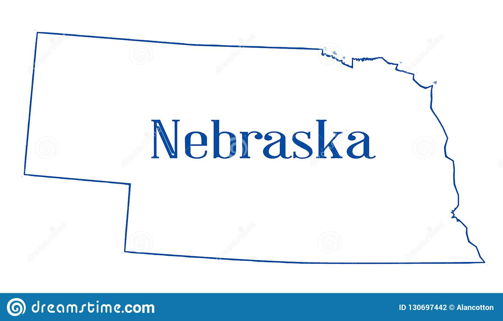 Nebraska State Outline Map Stock Illustration Illustration Of - Us-map-nebraska-state