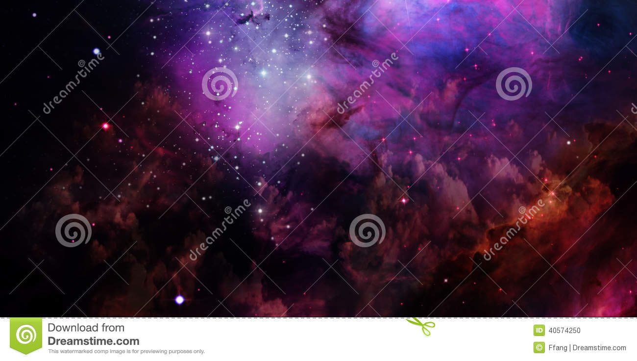 Nebula and stars in space.