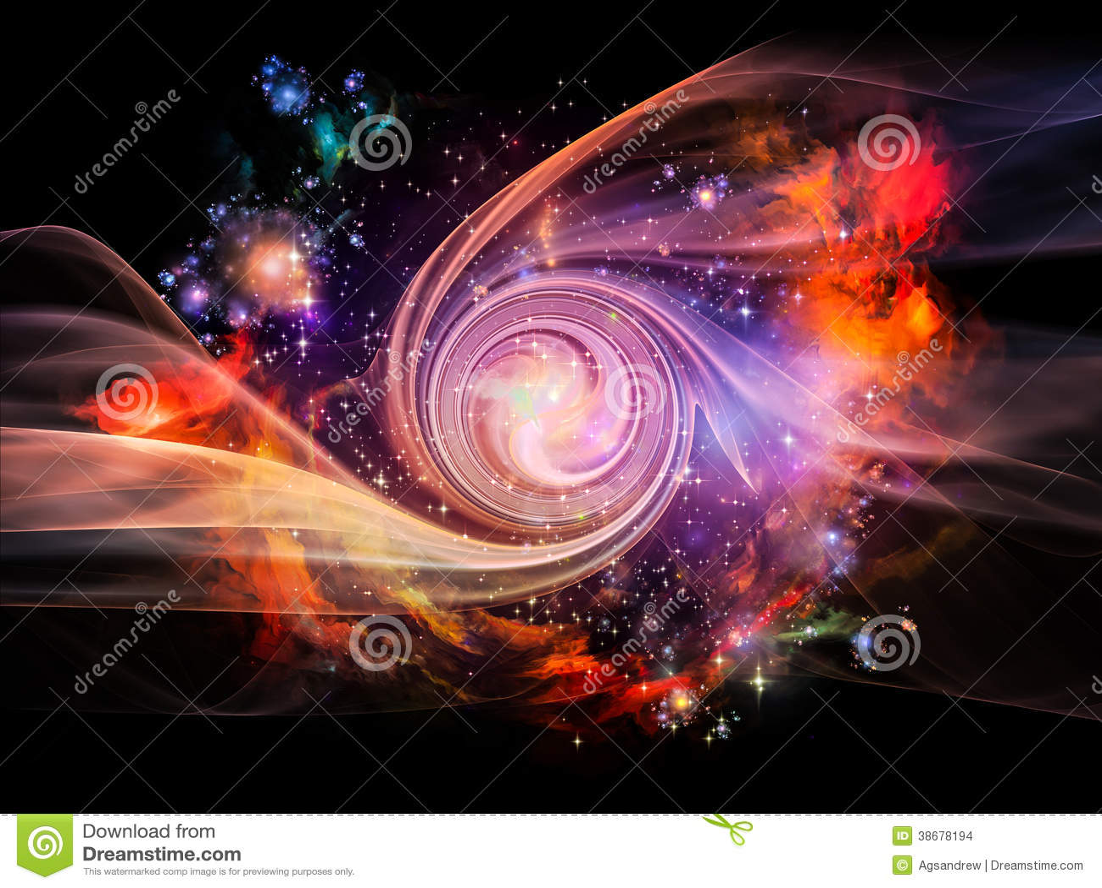 Stock Images Nebula Vortex Space Series Interplay Translucent Fractal ...