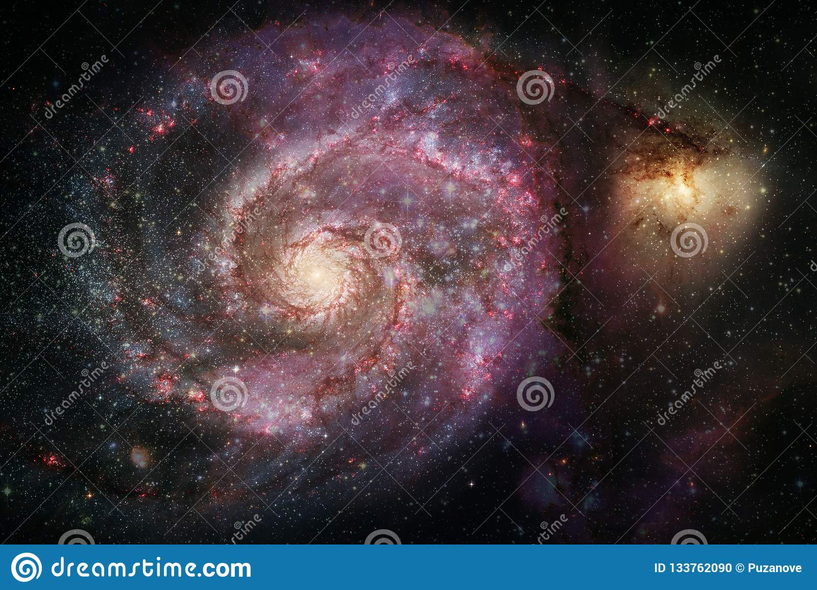 Nebulas Galaxies And Stars In Beautiful Composition Deep Space Art Stock Photo Image Of Fantasy Cluster 133762090