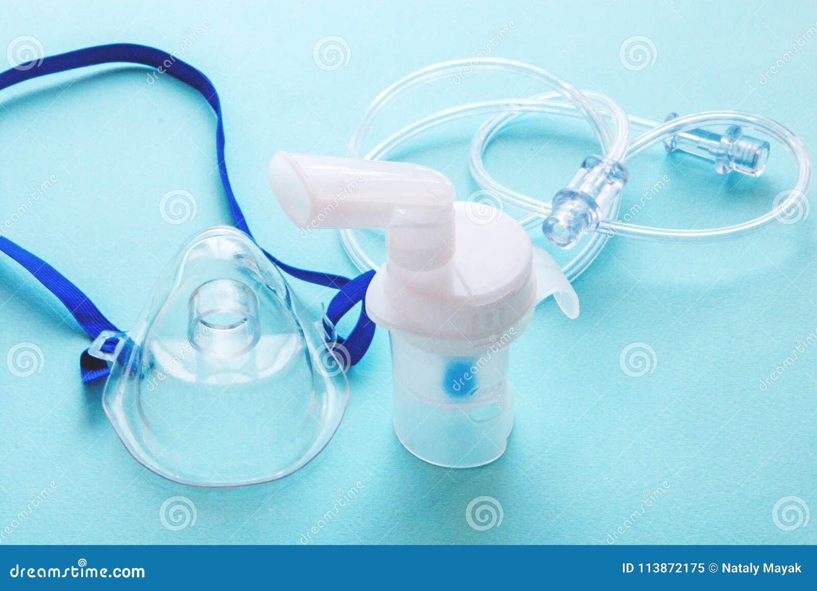Nebulizer da máscara do tubo e cabo transparente tubular