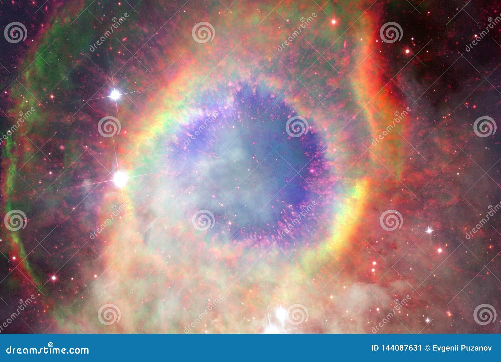 Nebulosa e galáxias no espaço Elementos desta imagem fornecidos pela NASA
