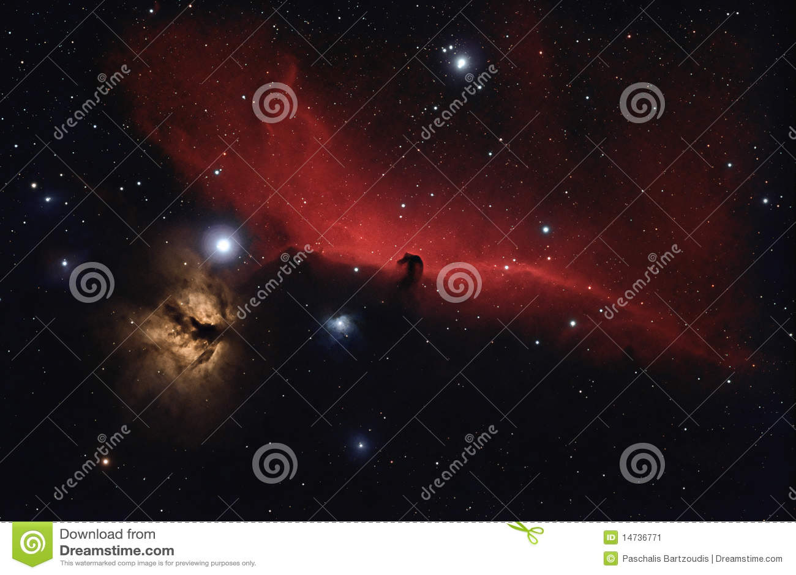 Nebulosa no espaço profundo