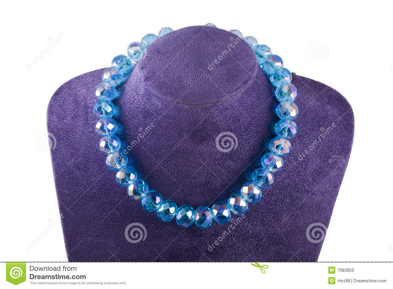 Download Necklace of crystal stock photo. Image of beaded, decoration - 7083850