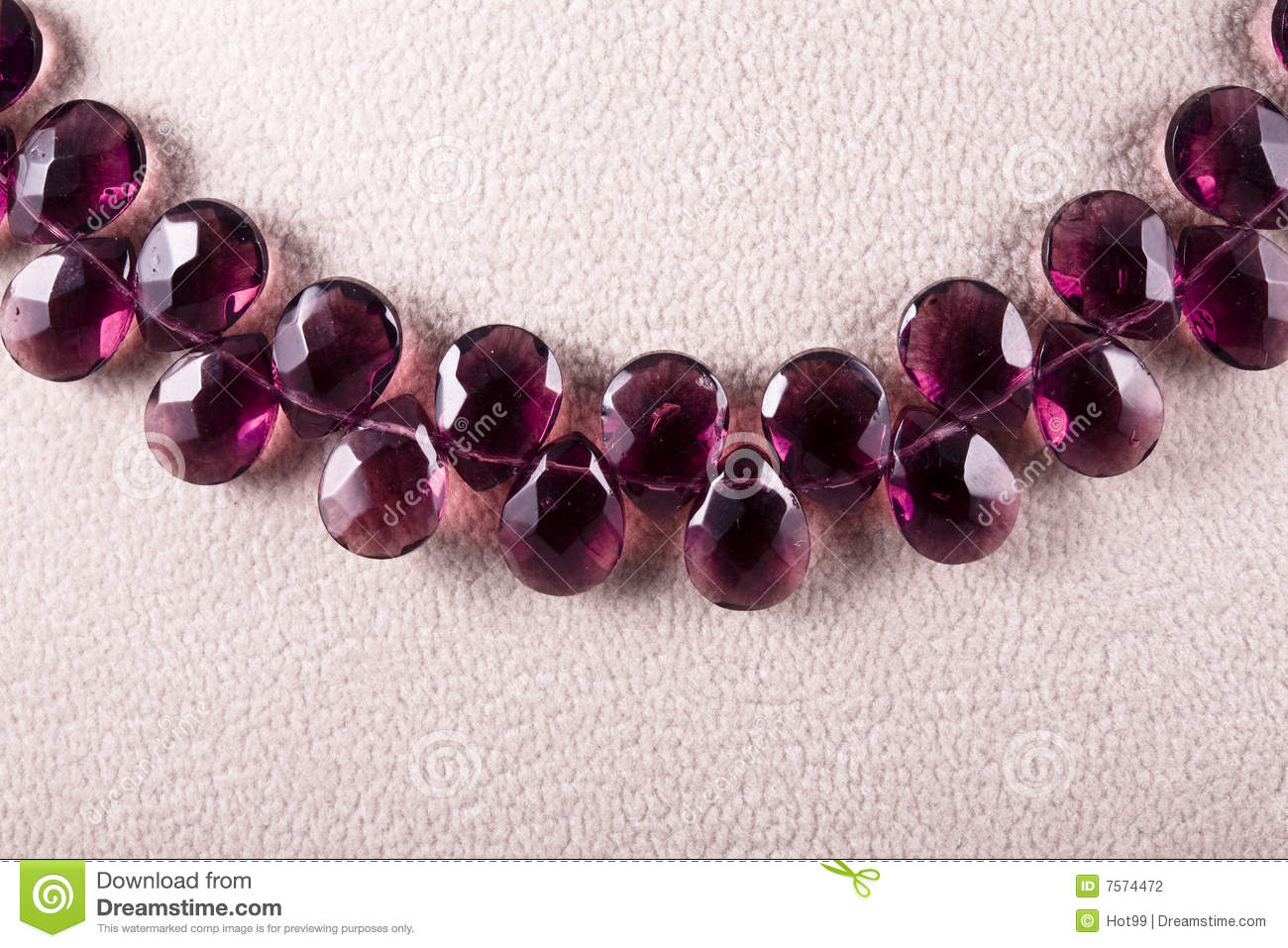 Necklace of crystal