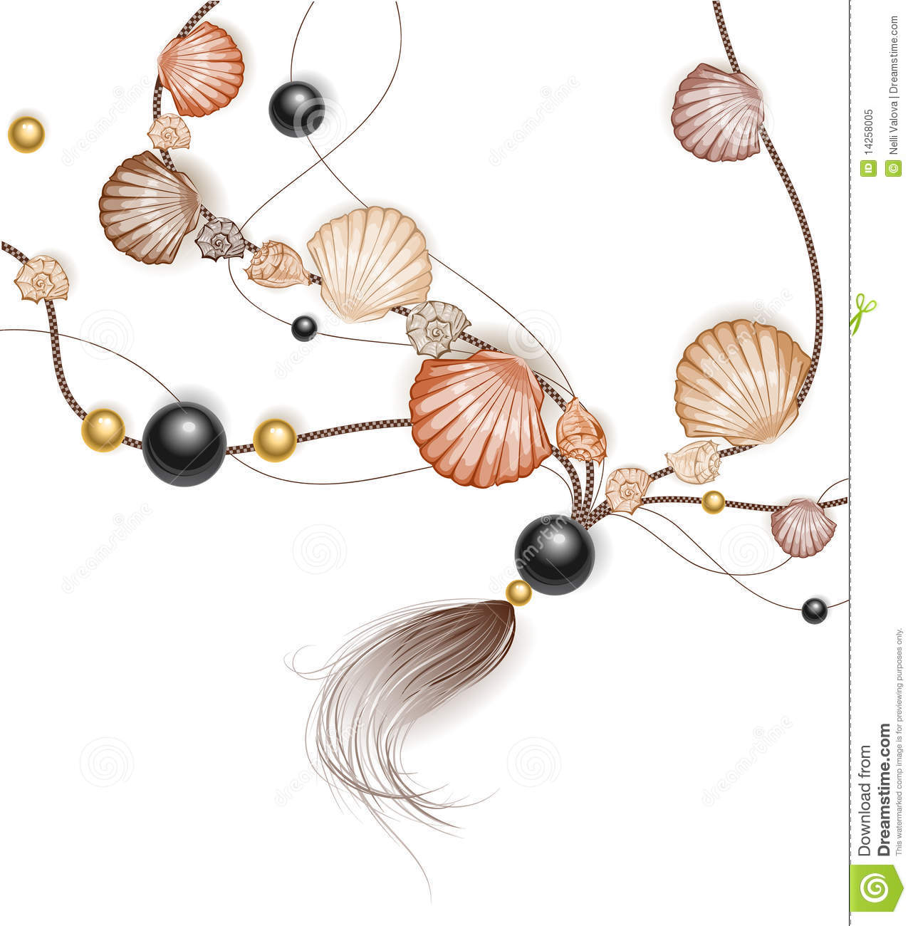 Necklace made of sea shells royalty free stock photo for What are shells made of