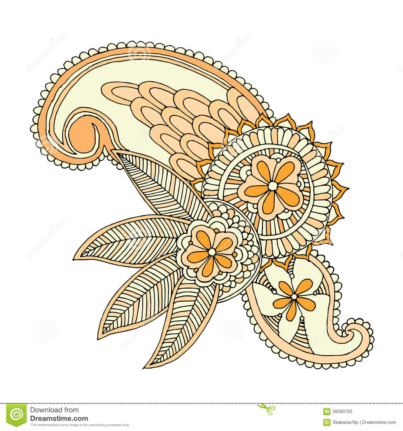 Line Art Embroidery : Neckline embroidery design stock vector illustration of