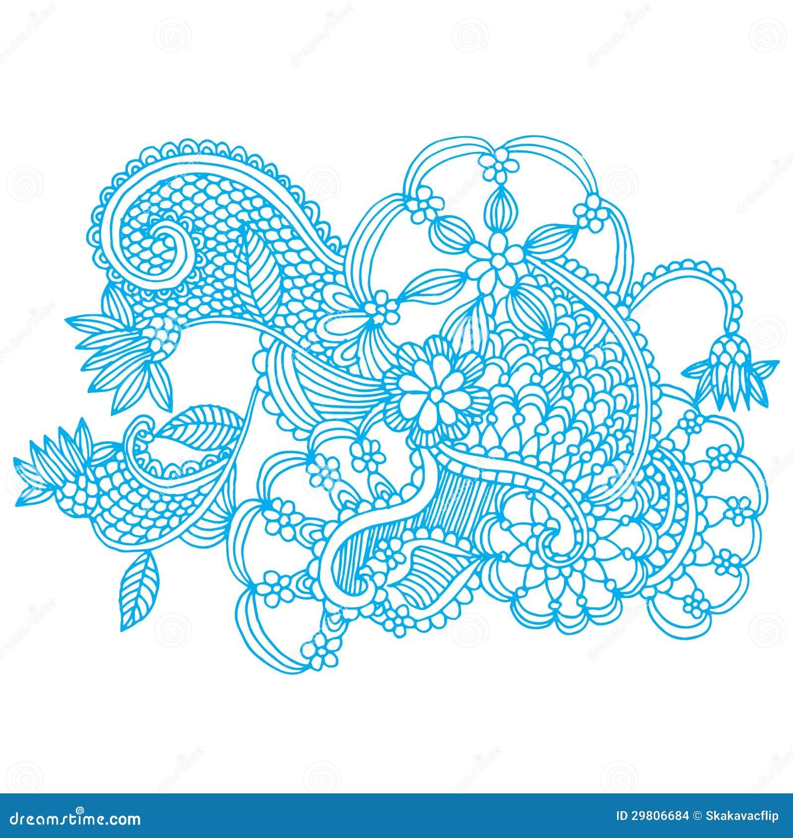 Neckline embroidery design stock illustration