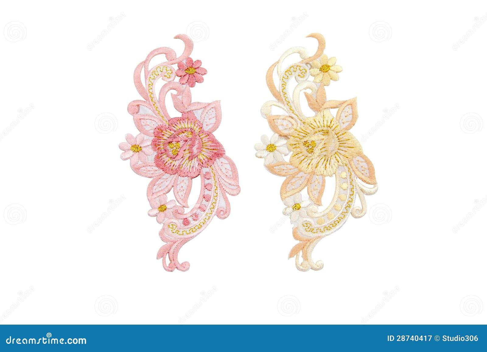 Neckline embroidery fashion cartoon vector cartoondealer