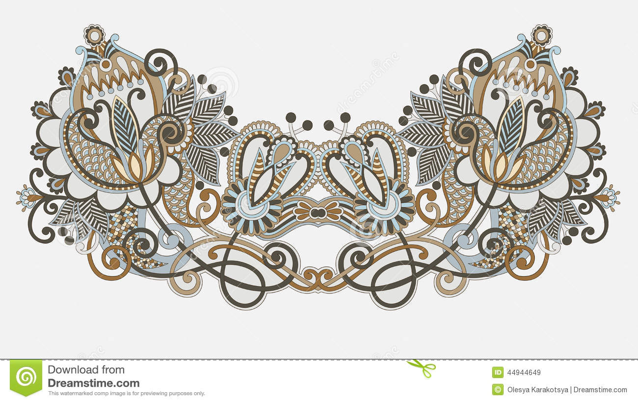 Neckline embroidery fashion stock image image 44944649 Fashion embroidery designs