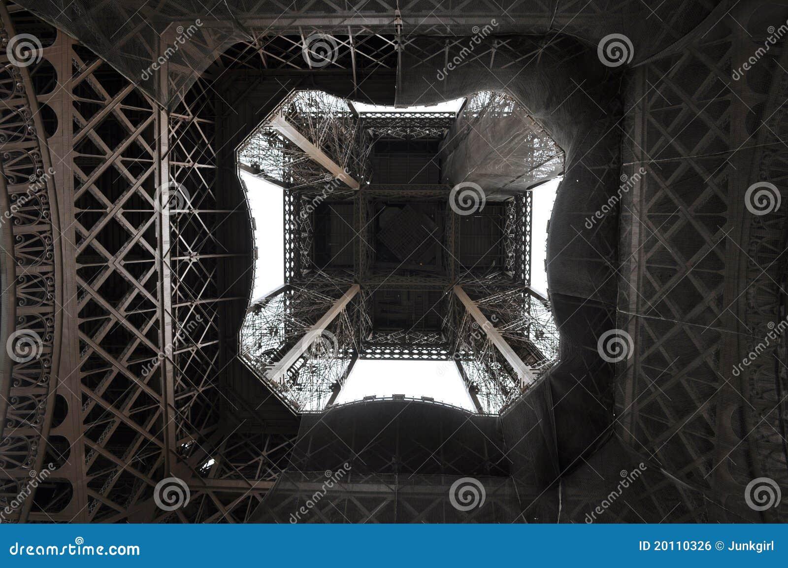 Nedanför direkt det eiffel tornet