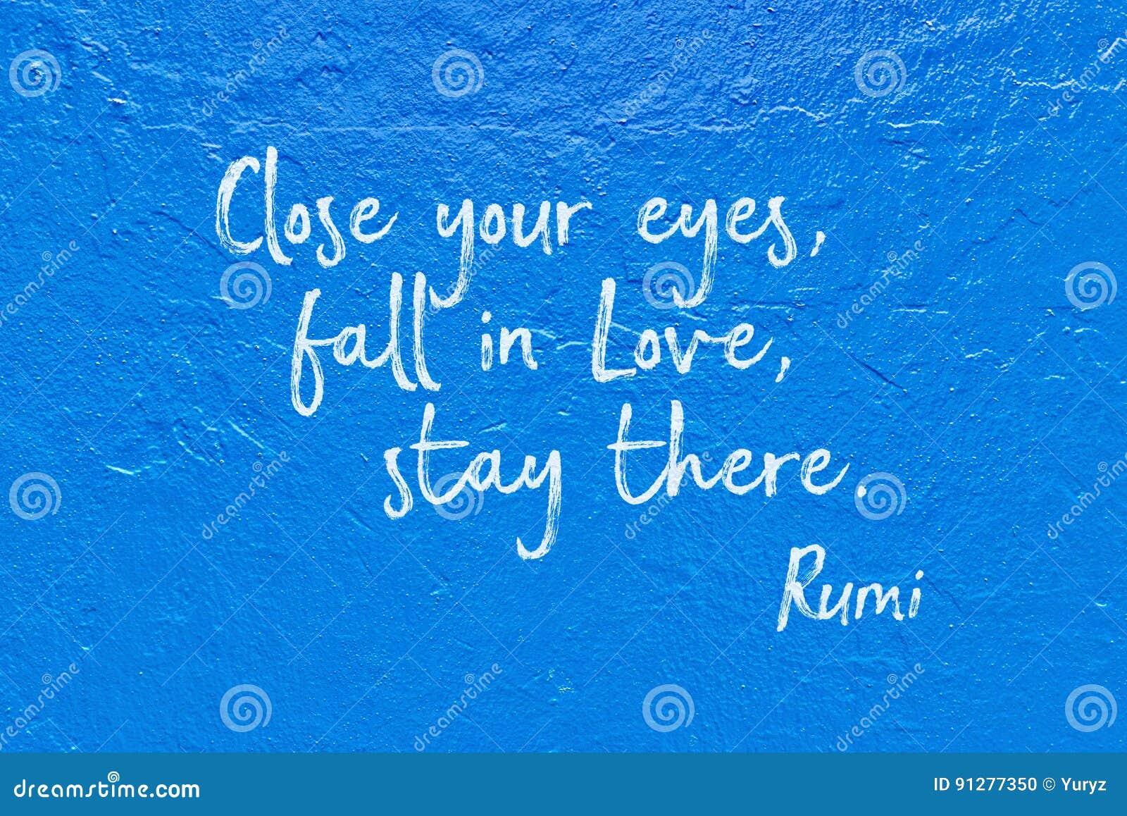Nedgång förälskade blåa Rumi