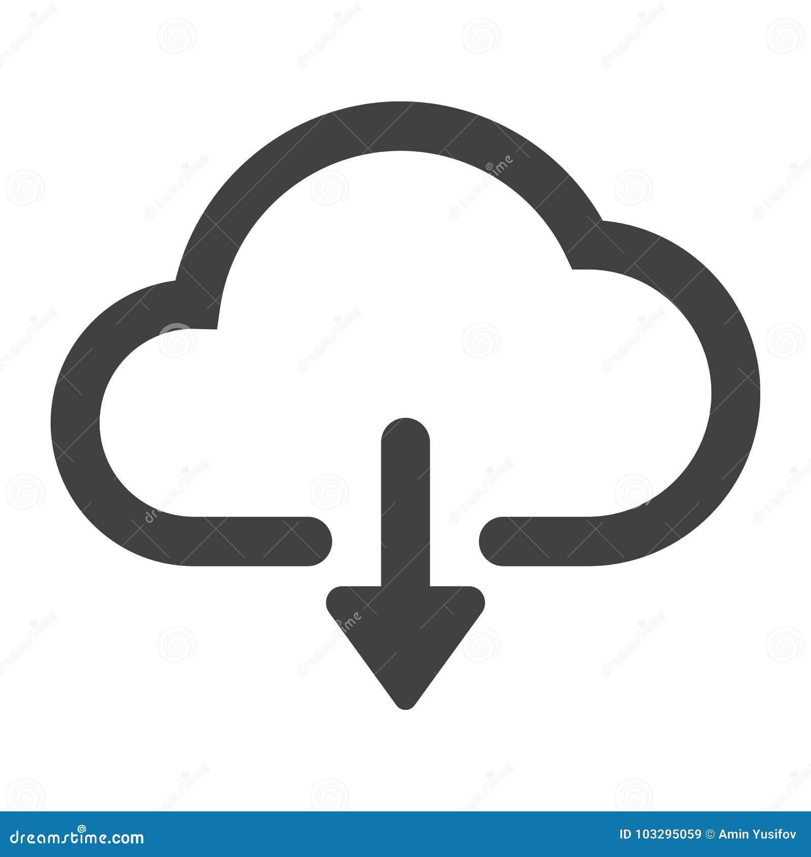Nedladdning från molnskårasymbol, rengöringsduk och mobil
