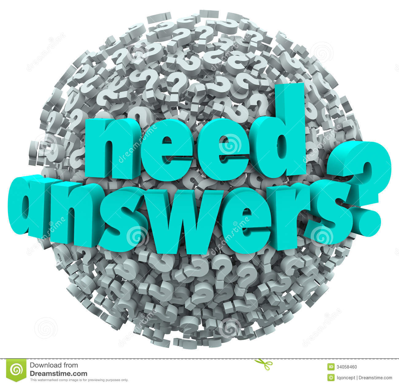 Song No Need Download: Need Answers Word Ball Question Marks Seeking Solution