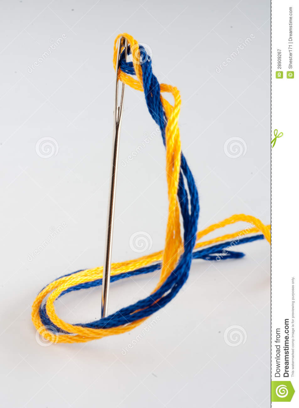 Download Needle And Embroidery Thread Stock Image - Image of thread, stitch: 28909267
