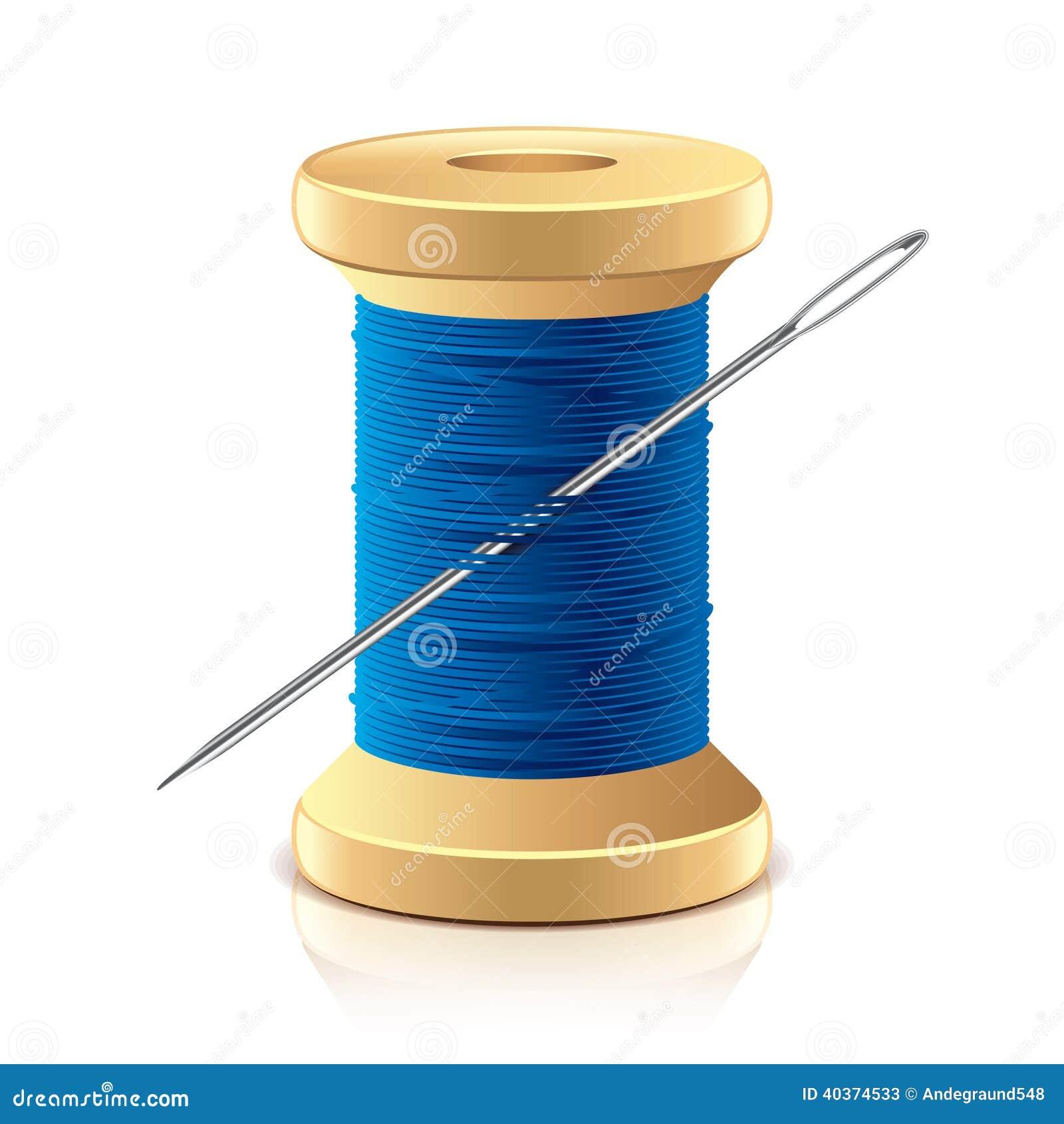 needle and thread spool vector illustration stock vector image 40374533. Black Bedroom Furniture Sets. Home Design Ideas