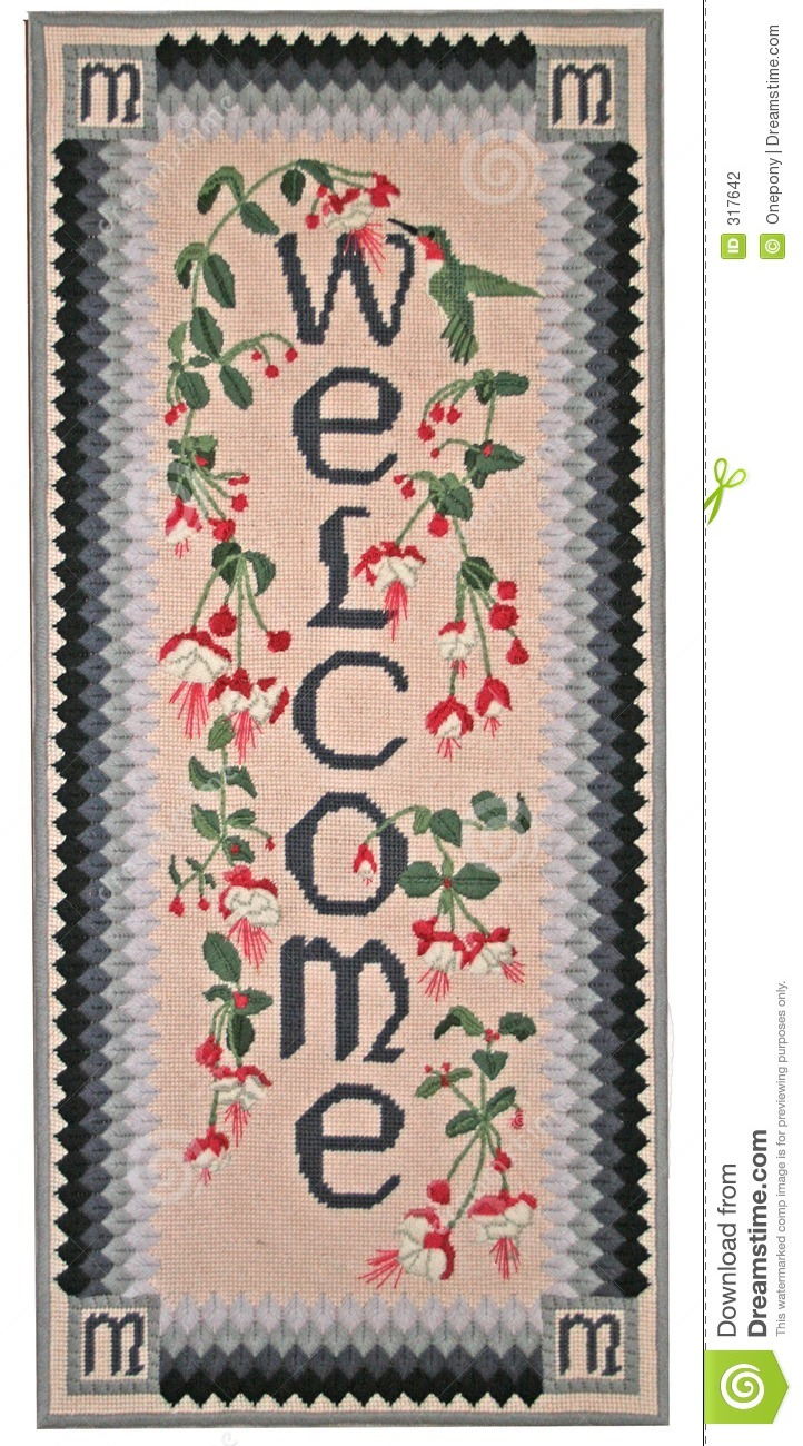 Needlepoint Welcome
