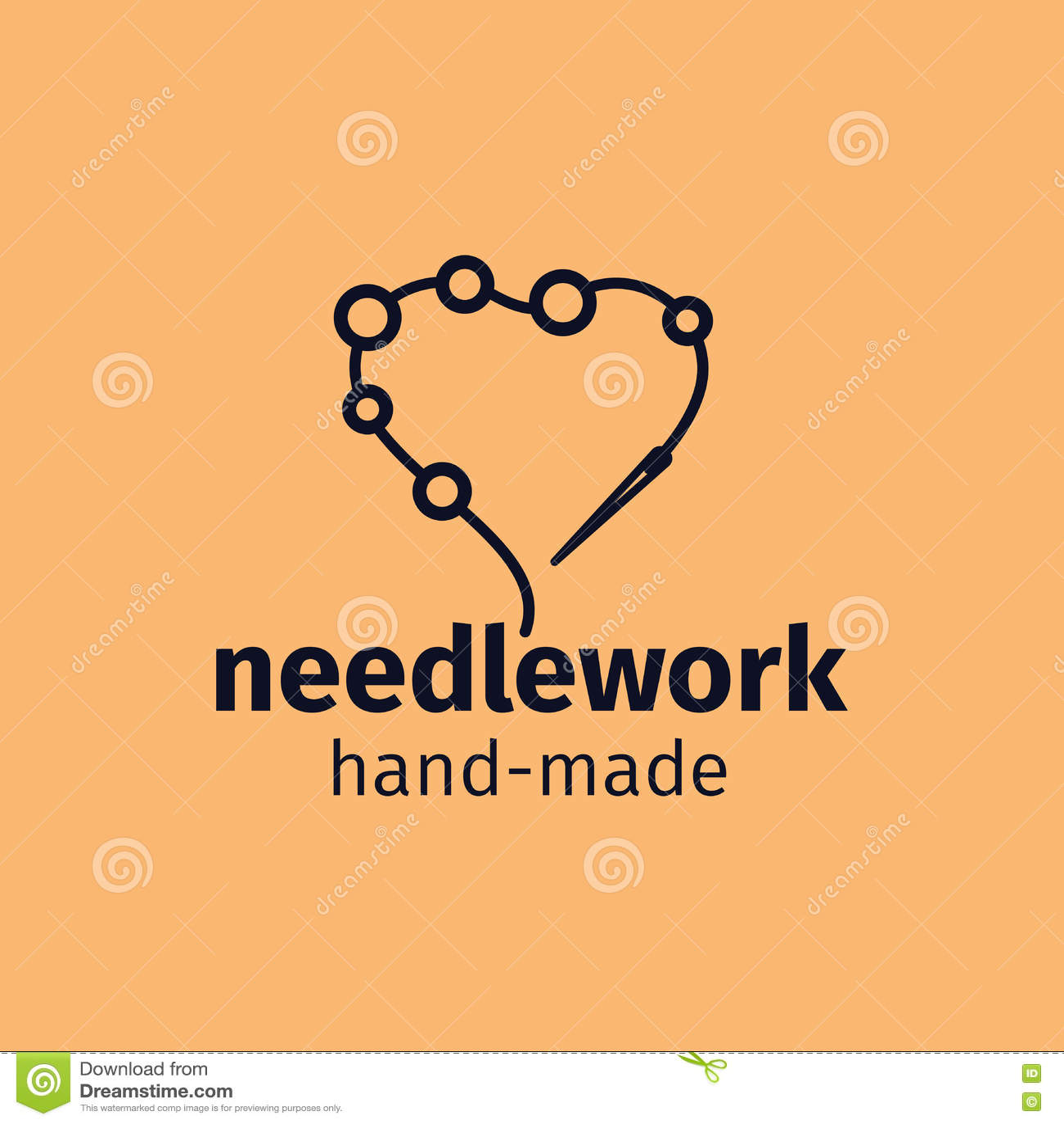 Needlework Handmade Logo Design Stock Vector - Image: 78317582