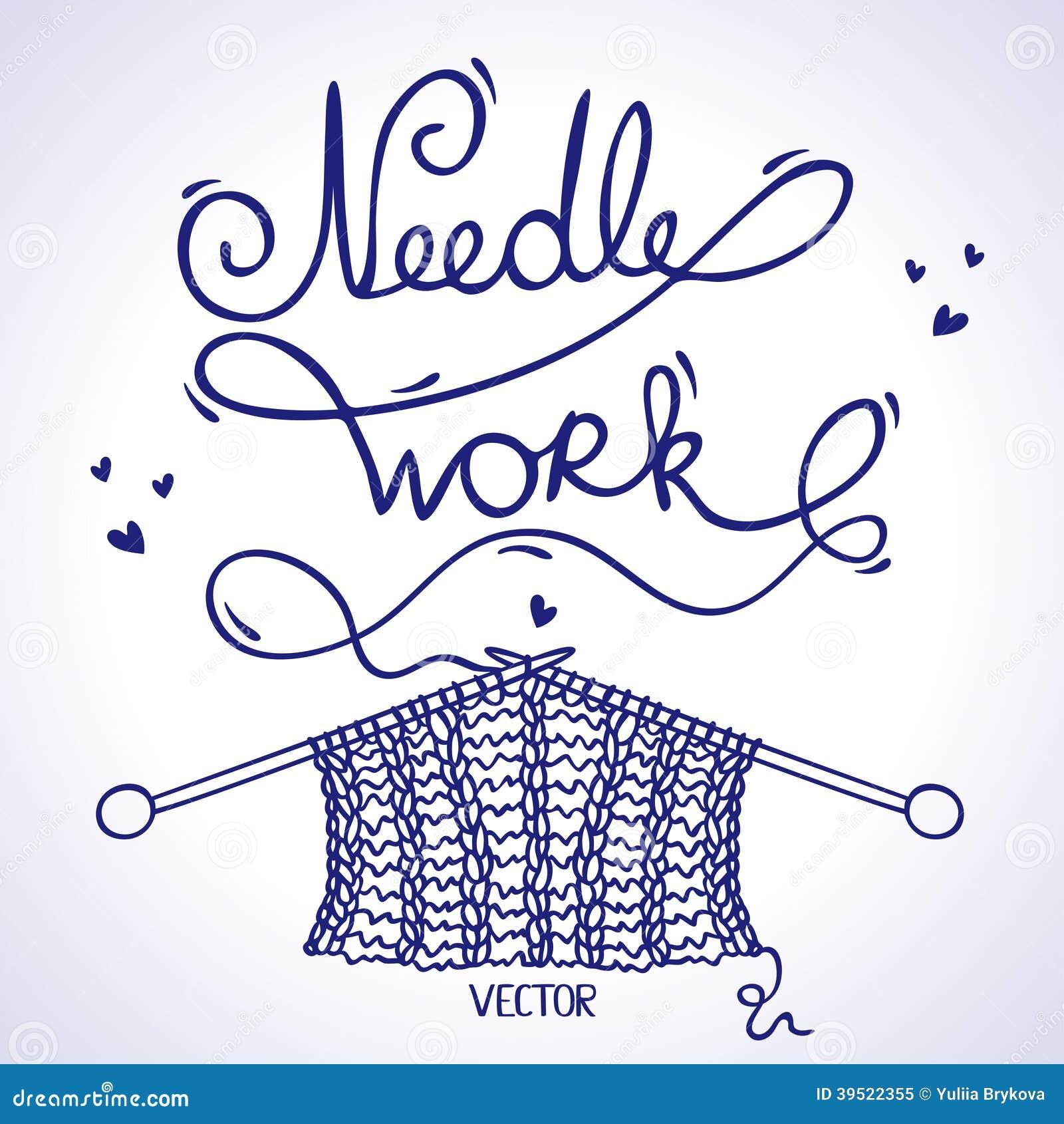 needlework knitting stock vector illustration of knitting