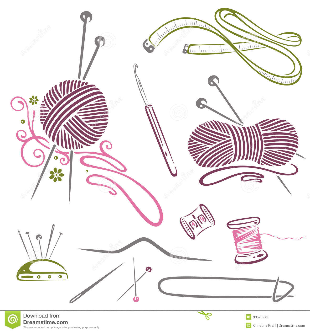 Crochet Hook And Yarn Clip Art Ball Of Yarn Crochet Clip Art
