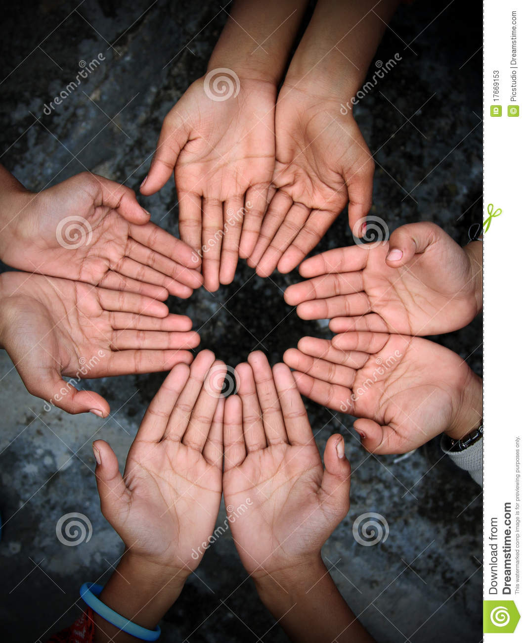 Two Hands Begging For Help Or Charity. Giving To The Needy, Money ...