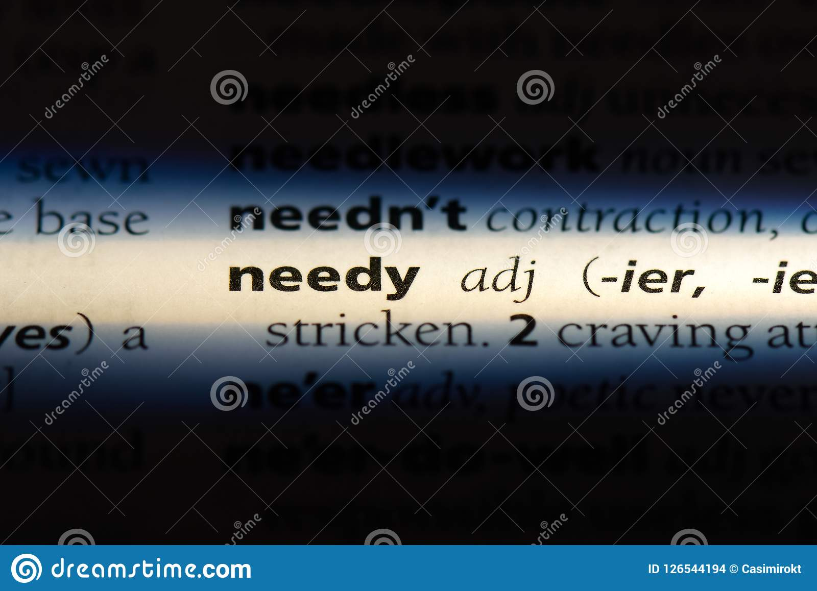 what is the definition of needy