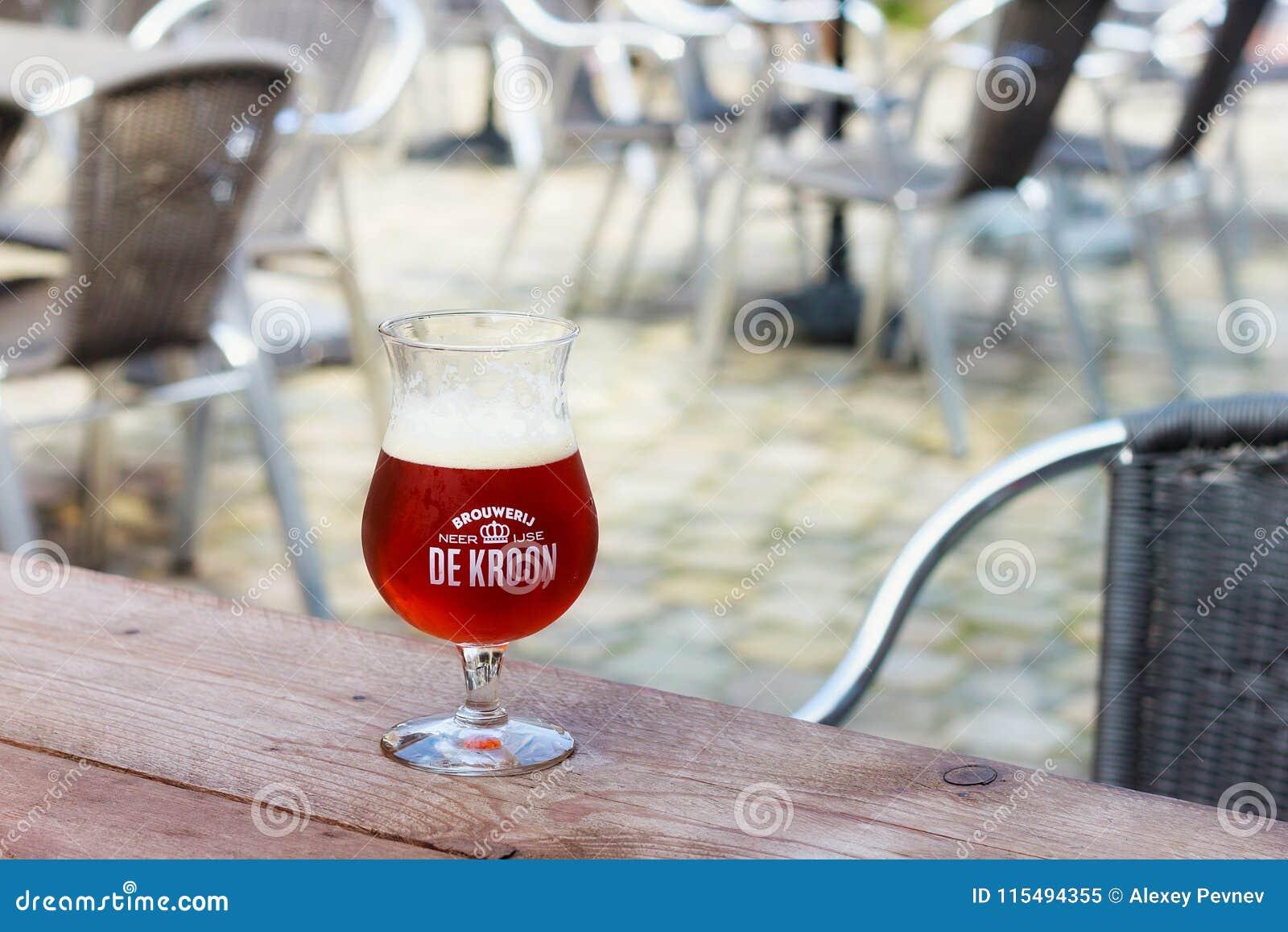 NEERIJSE, BELGIUM - SEPTEMBER 05, 2014: Tasting original beer of