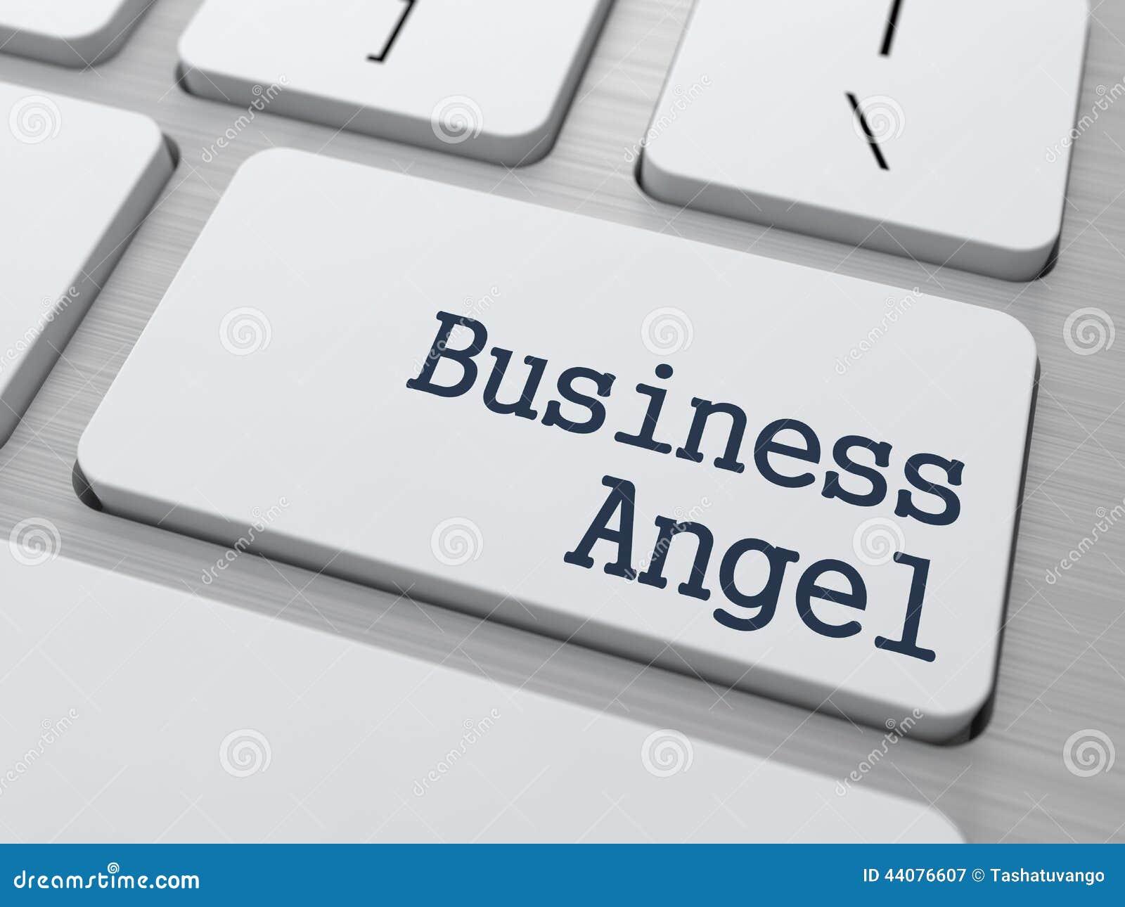 Negócio Angel Button no teclado de computador