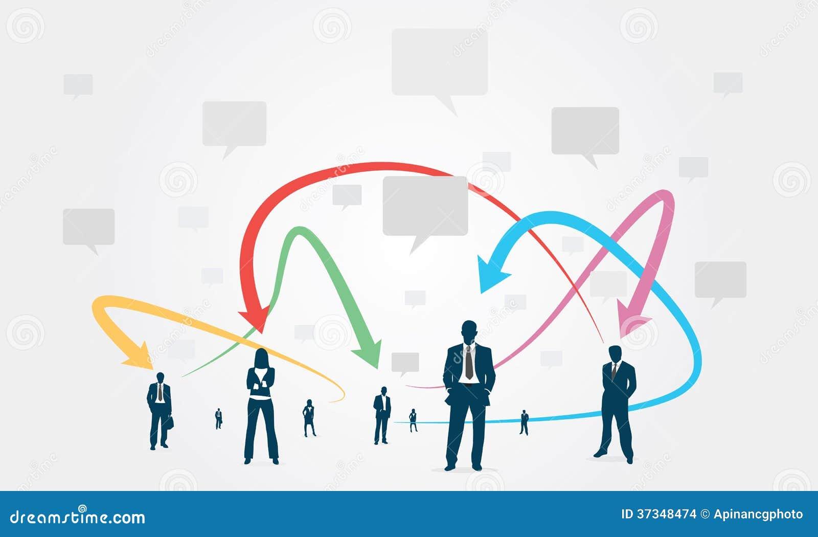 Negócio de uma comunicação do grupo social