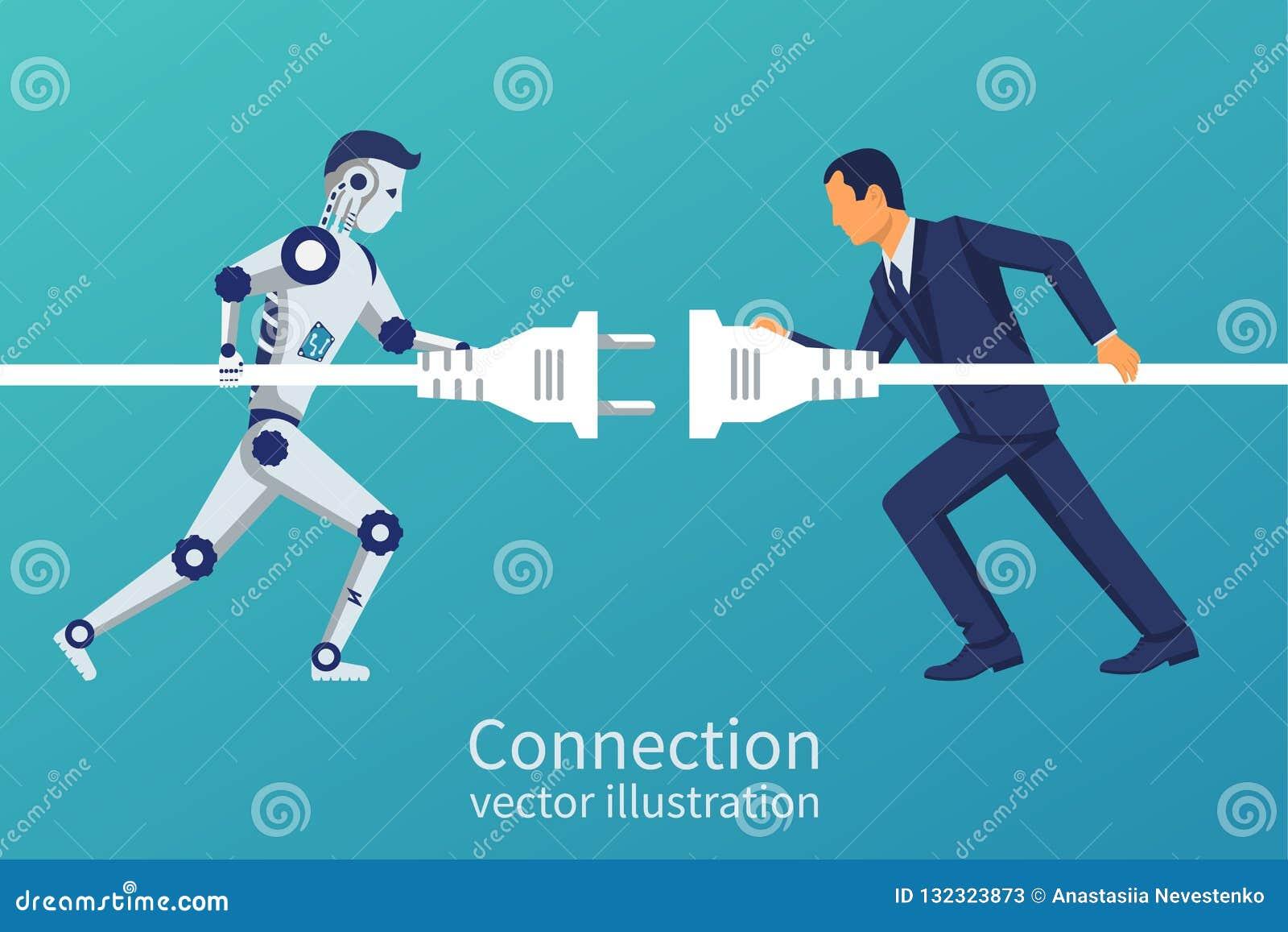 Negócio e conexão do robô