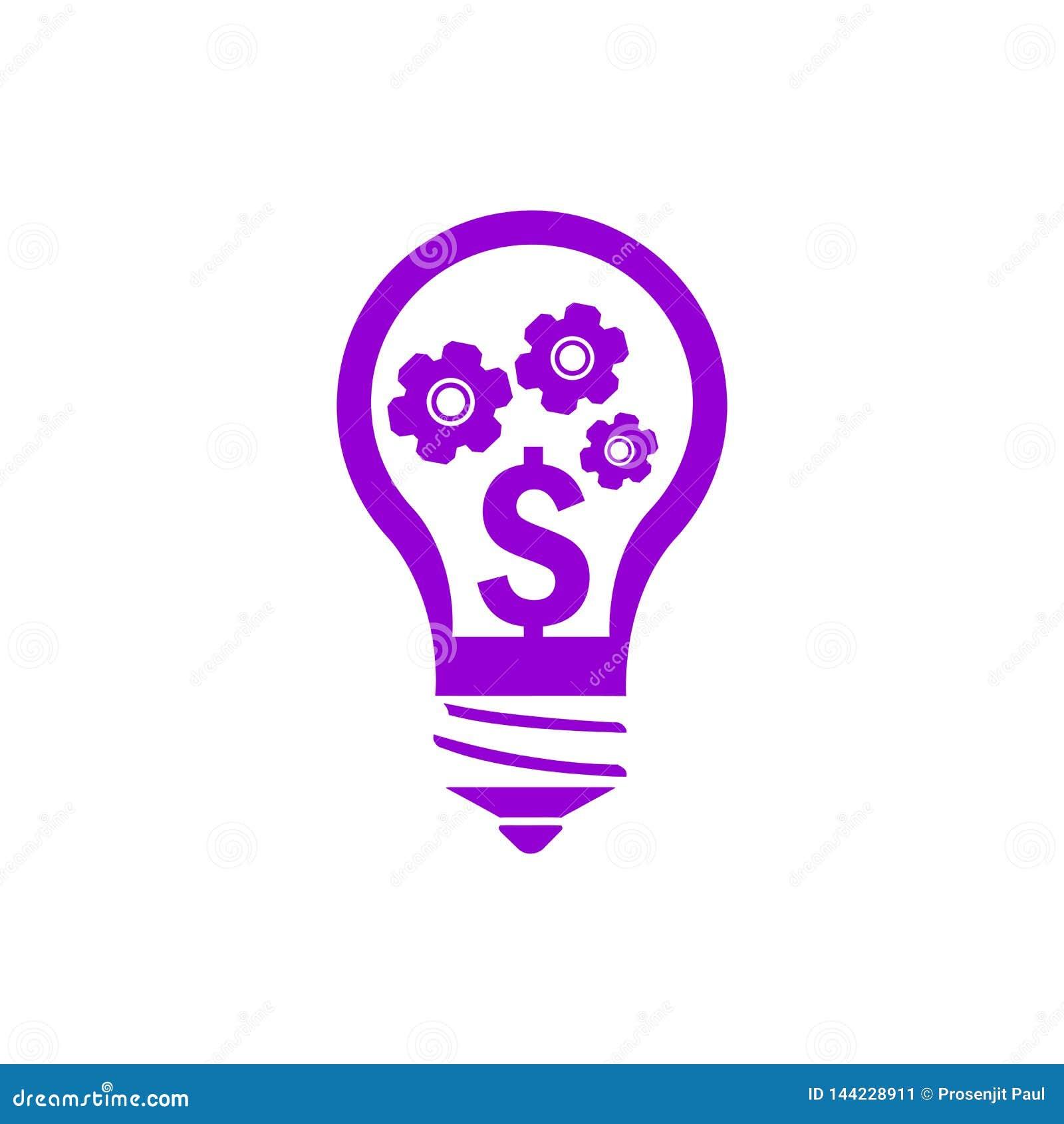 Negócio, para tornar-se, ajustando-se, inovação, ícone violeta escuro da cor da gestão criativa da ideia