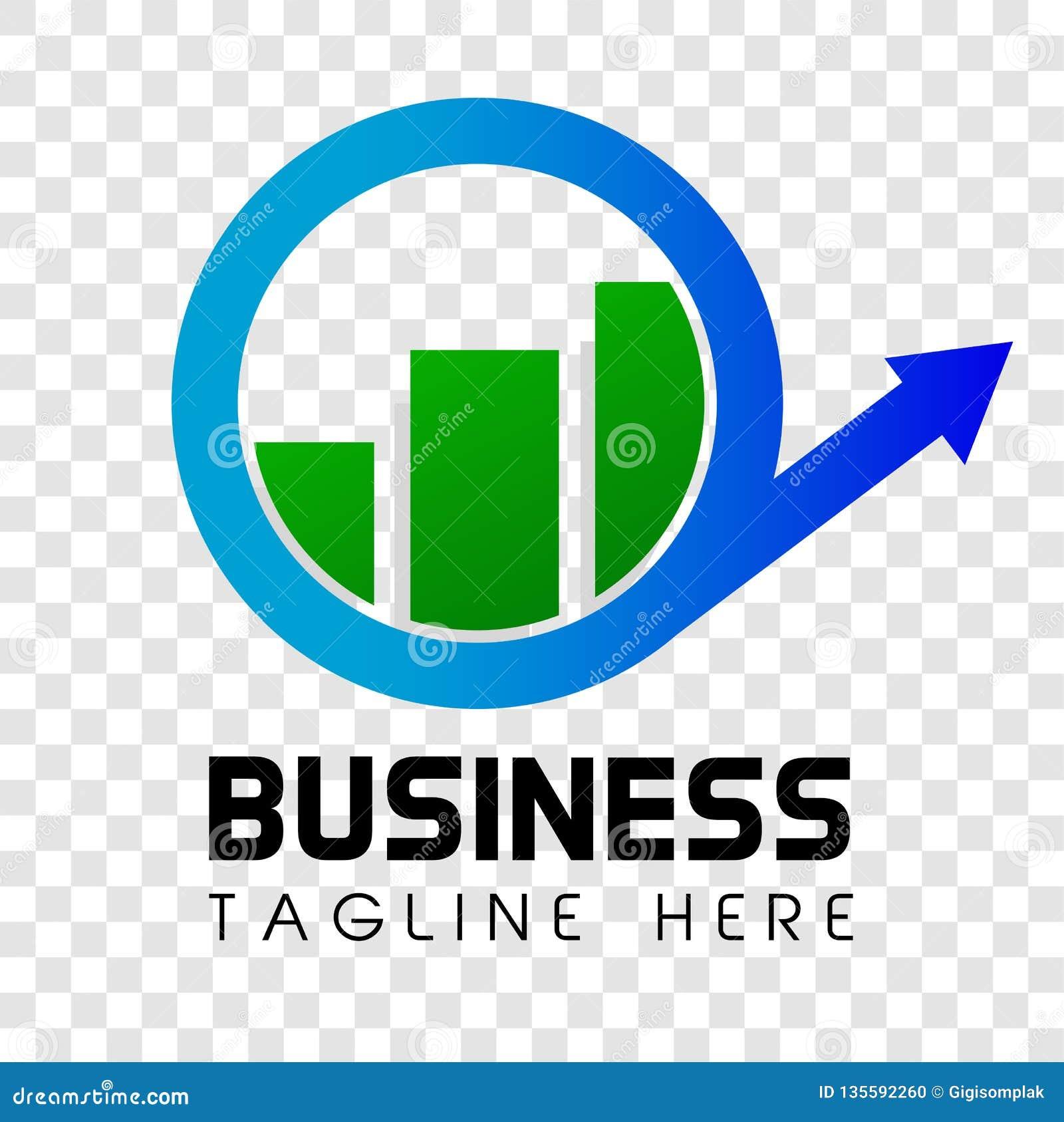 Negócio Shinning simples da seta e da barra de Cirle ou identidade corporativa orientada investimento no fundo transparente do ef
