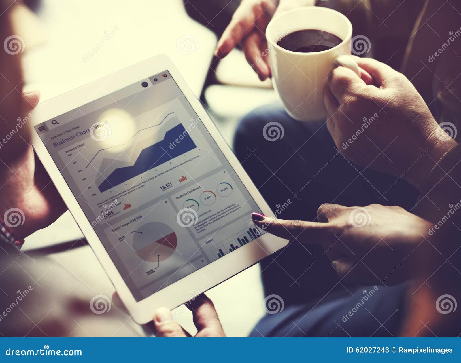 Negócio Team Brainstorming Data Target Financial Cocnept